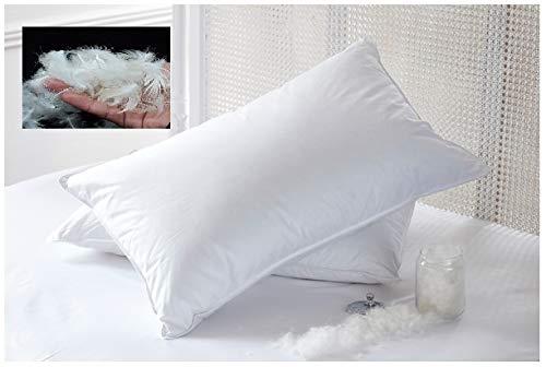 Bedtime - Juego de 2 almohadas de plumas de pato y plumón (200 hilos de poliéster)
