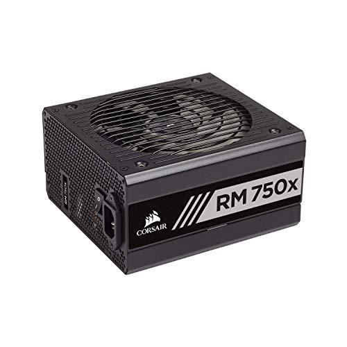 Corsair RM750x 80 Plus Gold, 750 W Fully Modular ATX Power Supply Unit - Black