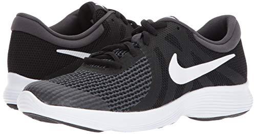 Nike Unisex-Kinder Laufschuh Revolution 4, Schwarz - 12