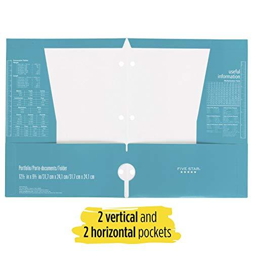 Five Star 4 Pocket Folders, 2 Pocket Folders Plus 2 Additional Pockets, Assorted Colors, 6 Pack (38058) Photo #3