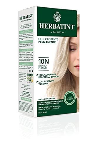 Herbatint Gel Colorante Permanente 10N Biondo Platino 150 ml