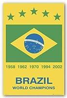 """ブラジル(W杯チャンピオン)スポーツポスター24"""" inches x 36""""平行輸入"""