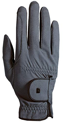 Roeckl Roeck Grip Handschuh, Unisex, Reithandschuh, Anthrazit, Größe 7,5