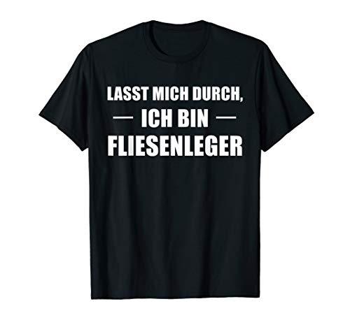 Ich bin Fliesenleger Spruch T-Shirt