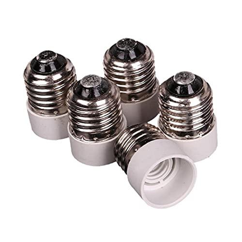 Sanfiyya 5 PCS E27 al zócalo del Adaptador E14, Medium Tornillo para Base Intermedia Bombilla Socket Adaptador convertidor Reductor