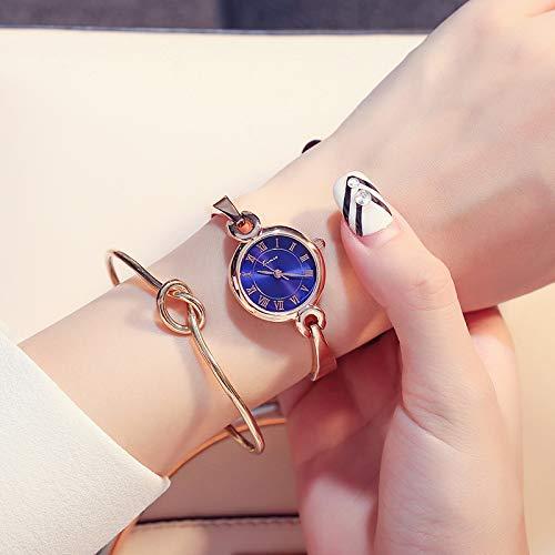 FSTMVV Versión Coreana De La Simple Ronda Reloj De Esfera Pequeña Mujer Moda Tira De Acero Pulsera Reloj Impermeable Reloj De Cuarzo Estudiante Reloj De Tendencia