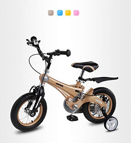 Ultrasport Vélo d'enfant, vélo de Fille et de garçon à partir de 3 Ans (12,5 Pouces) ou 4,5 Ans (16 Pouces), vélo d'enfant avec freinage à rétropédalage,Gold,16\