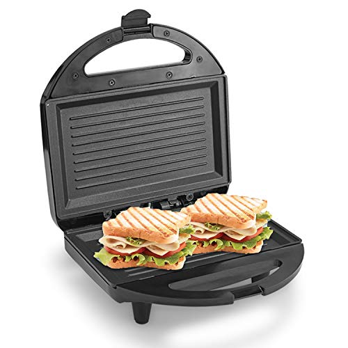 Lifelong LLSM120G Sandwich Griller , Classic Pro 750 W with 4 Slice Non-Stick Fixed Plates for Sandwiches at Home with 1 Year Warranty (Black)