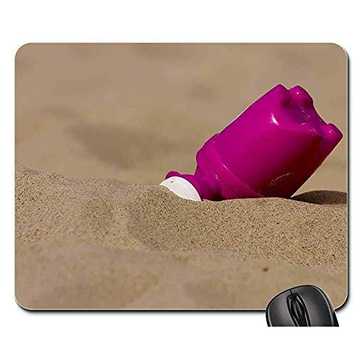 Anti Rutsch Gaming Mausepad,Pad Maus Unterlage,Gummiunterseite Mausmatte,Strand Spielzeug Gießkanne Sommer Kinderspielzeug Bürocomputer Pad,Glatt Mousemat,30X25Cm