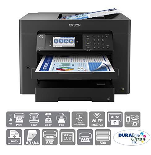 Epson WorkForce WF-7840 All-in-One A3+ Wireless Colour Printer with Scanner, Copier, Fax, Ethernet,...