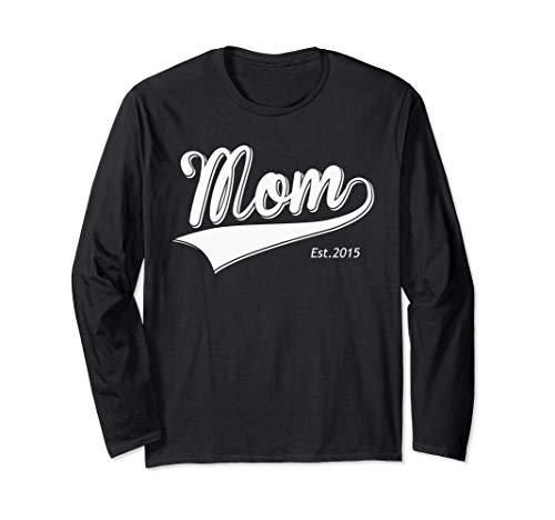 Mamá Est 2015 Regalo para el día de la madre Mamá Manga Larga