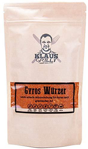 Klaus Grillt - Gyros Würzer 250 g Standbeutel - Griechische Gerichte jeder Art - Auch für Souvlaki, Bifteki und Köfte