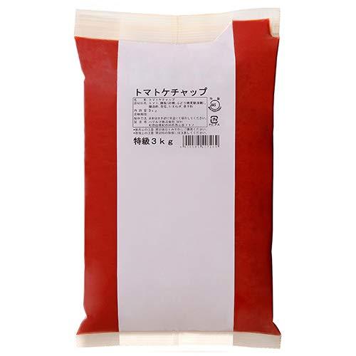 ハグルマJAS特級 トマトケチャップ3kg袋パック×4袋入×(2ケース)