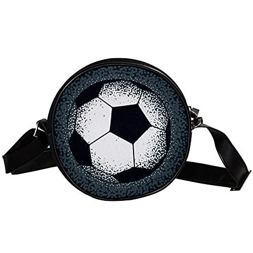 Mini Bandolera Niñas Fútbol Retro Monedero Bolso para Niños Bolso Pequeño para Mensajero Monedero Bolsas De Hombro 17x17x5cm