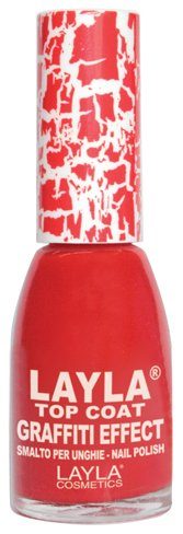 Layla Cosmetics Top Coat Graffiti nagellak, rood, 1-pack (1 x 0,01 L)