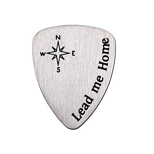 Guitar Plectrum, 2 Pack Titanium Steel Gitarren Pick für akustische und elektrische Gitarren