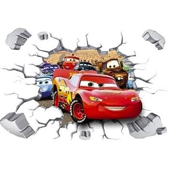 Kibi 3d Aufkleber Cars Wandtattoo Cars Wandaufkleber Cars 3 Wandsticker Cars Disney Wandtattoo Cars Kinderzimmer Dekoration Abnehmbare Aufkleber Wall Stickers Xxl 90 X 60 Cm Amazon De Kuche Haushalt