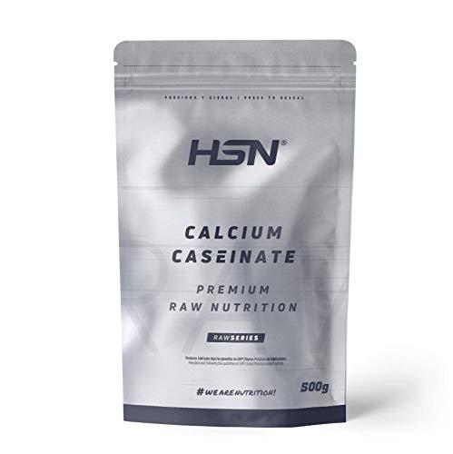 Caseinato de Calcio de HSN | Proteína de Liberación Lenta | Ideal para Antes de Dormir o Entre Comidas | Vegetariano, Sin Grasas, Sin Azúcares, Sin Gluten, Sabor Neutro, 500 gr