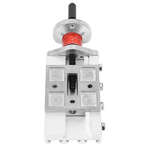 32mm Metallkreuzschlitten, Z008M Längsschlitten Aluminiumlegierung Schlitten für Mini-Drehmaschine Vorschub Entlastungsachse Y/Z Bearbeitung