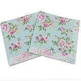20 PC / 33cm * 33cm Característica Impresa Rose servilletas de Papel para el Evento y la decoración del Partido del Tejido Decoupage Servilleta