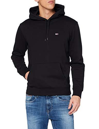 Tommy Hilfiger Herren TJM Regular Fleece Hoodie Pullover, Schwarz, XL