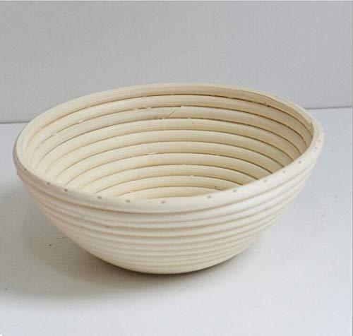 Urhause Bread Fermentation Basket Rattan Wicker Bread Basket Handmade 22x22x8.5 cm Il Giro