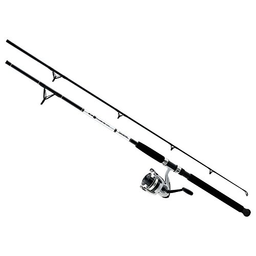 Daiwa DWB40-B/F802M D-Wave Saltwater Spinning Combo, 1 Bearing, 8' Length, 2Piece Rod, Medium Power, Fiberglass Blank Material