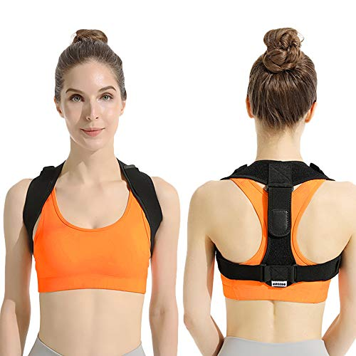 GREENO Postrue Corrector for Shoulder Support, Back Brace for Men and Women Upper Back Pain Relief, Posture Brace for Back Support and Upper Spine Support, Back Straightener Adjustable, Universal Size