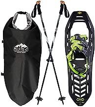 Atlas Snowshoes Helium-Trail Kit, Black/Bright Green, 26