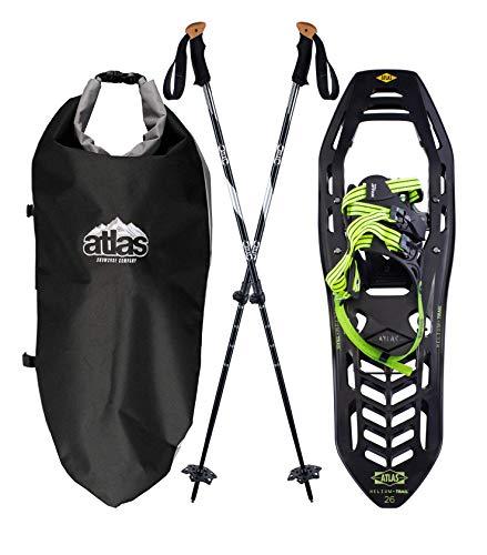 Atlas Snowshoes Helium-Trail Kit, Black/Bright Green, 23