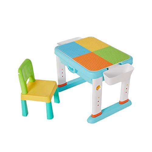 Home Kindergranulat Tischpuzzle Kinderspielzeug, zusammengebaute Bausteine Spielzeugtisch