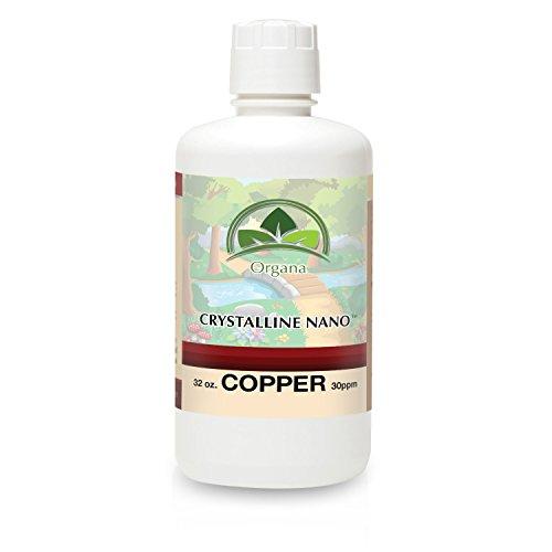 Organa Pure Crystalline Liquid Copper Supplement - 30 PPM - Colloidal Minerals