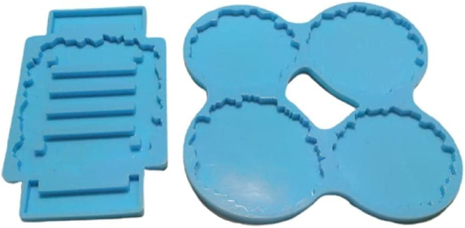 Coaster+Stand Set Louisville-Jefferson County Mall Epoxy Resin Mold Mat+Holder Cup Mould Silicone New mail order