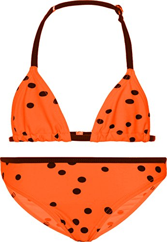 NAME IT Mädchen Triangel Bikini NKF Zummer (146/152, Neon Coral)