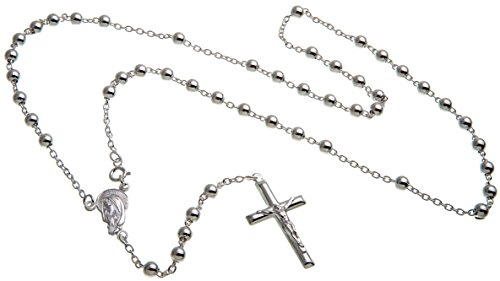 Rosenkranz Laurenzo, Rosenkranzkette 925 Silber, Länge wählbar von 45-90cm
