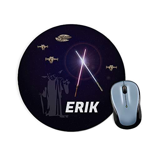 LolaPix Alfombrilla Raton Star Wars Personalizada con Nombre. Regalos Personalizados para Fans. Varios Modelos. 20x20 cm. Redonda. Star Wars