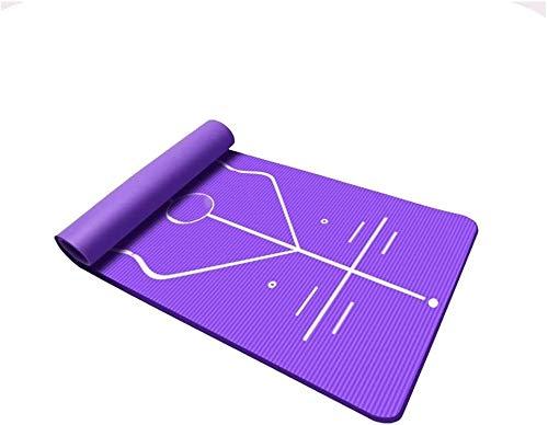 GDFEH Esterilla Yoga Travel Yoga Mat NBR Fitness Fitness Mat de espuma espesa Yoga Mat Eco Friendly Friendly Fitness Ejercicio Fitness Matear para hombres Mujeres Inicio Gimnasio Pilates Meditación Es