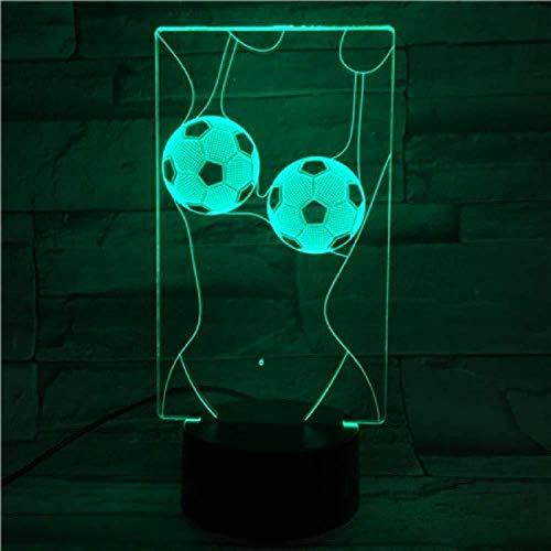 3D Nachtlicht Neuheit Lichter 3D Fußball Lampe C Ronaldo Nachtlicht Kind Home Decor Dropshipping Nacht Messi Kinder Led Nachtlicht Fußball-5_9_7 Farben Keine Fernbedienung 7 Farben veränderbar.