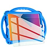 TopEsct kids case for new ipad 10.2 2020/2019, iPad 8th/7th Generation Case for Kids,with Tempered Glass Screen Protector and Strap,Premium Silicone Shockproof ipad 10.2' 2020/2019 Cover. (Blue)