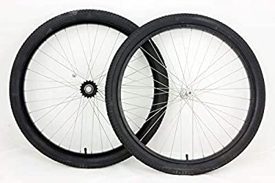 Mang 26 inch Black Coaster Brake Wheel Set Beach Cruiser Bike Bicycle with Tires and Tubes
