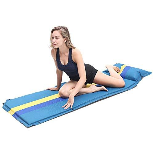 Herramientas de camping Con almohadas Combinación de empalme para 3 personas Espuma inflable al aire libre compacta Colchoneta de aire Colchoneta de dormir Almohadilla para dormir Plegable plegable Au