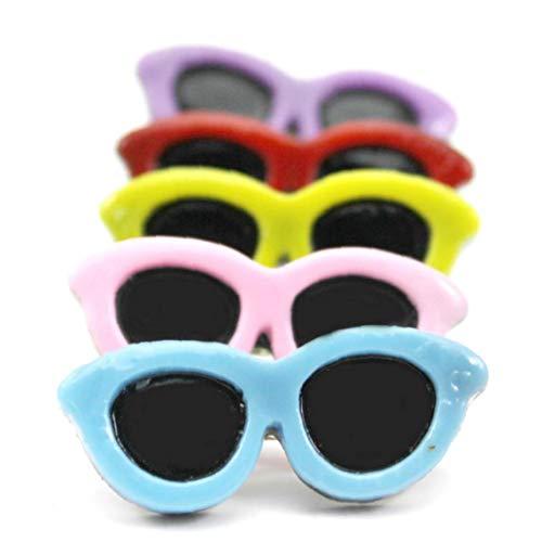 Gafas De Sol En Forma De Pinzas De Pelo De Perro De Mascota Arcos del Pelo De Las Horquillas De Cocodrilo Pequeño Mascotas Accesorios del Pelo De 5pcs