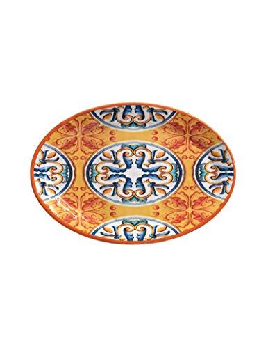 Brandani53904 Vassoio Ovale Arancio Medicea Melamina30,5X21 cm Colore Arancio