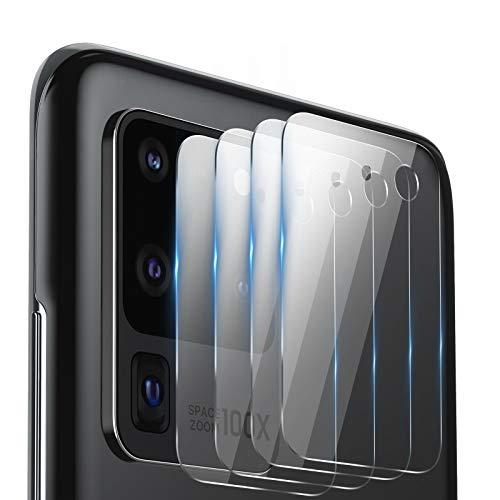 BANNIO Kamera Panzerglas Schutzfolie für Samsung Galaxy S20 Ultra,[4 Stücke] 9H Festigkeit Back Linse kameraschutz Glas Folie,Anti-Kratzer Kamera Bildschirmschutzfolie Panzerglasfolie für Galaxy S20 Ultra