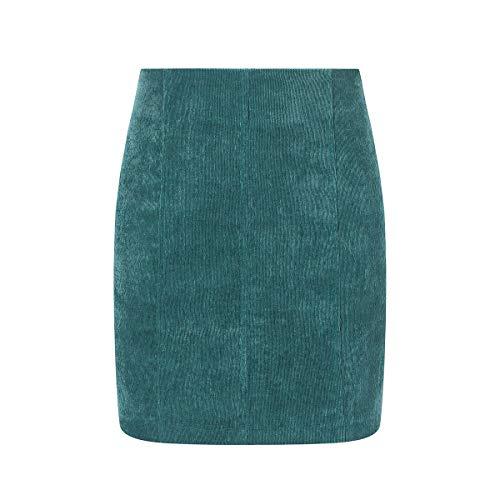 HaiQianXin Falda Mini de Tubo de Bodycon Vendaje Color Puro Sexy para Mujer (Color : Green, Size : L)