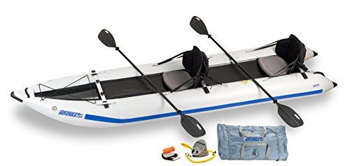 Sea Eagle 435 Paddle Ski Catamaran Inflatable Kayak with Pro Package