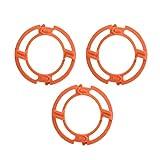 Fdit 3PCS Anillos de retención de Hoja Naranja para Philips Norelco Series 7000...