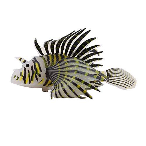 Aquarium Artificial Rotfeuerfisch Schwarz-Fisch-Beh?lter-Dekor-Simulation Rotfeuerfisch Glühendes Silikon Rotfeuerfisch Haus-