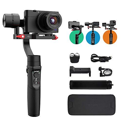 Hohem iSteady Multi 3-Achsen-Handheld Gimbal Stabilisator für Digitalkamera Action Camera & Smartphone,Gopro 7/6/5, Stabiles Video, 8 Stunden Arbeiten, Neue APP,600 ° Drehung