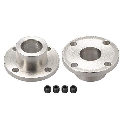uxcell 12mm Inner Dia H13D18 Rigid Flange Coupling Motor Guide Shaft Coupler Motor Connector 2PCS for DIY Parts